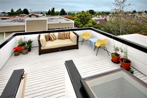 rooftop deck design exterior design cozy rooftop deck designs with black high