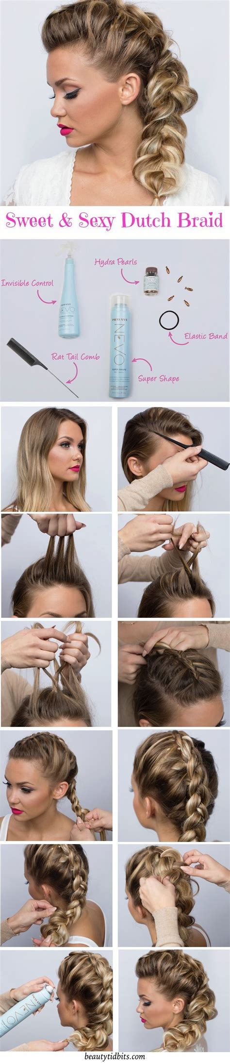 steps for long braids to be put in a bun date night hair sweet sexy side braid tutorial sexy