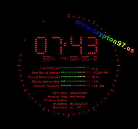 Jam Digital Dekstop flying clock screensaver pro screen saver jam digital