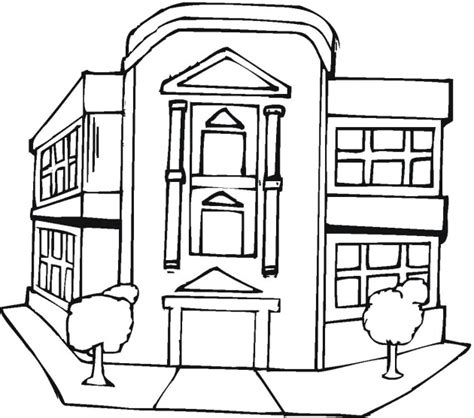office building coloring page