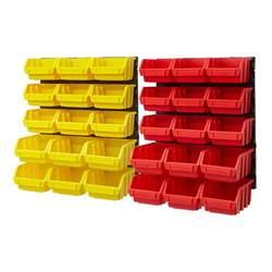 organizer bins plastic bin kit wall garage storage parts bins tool small parts organizer rack ebay