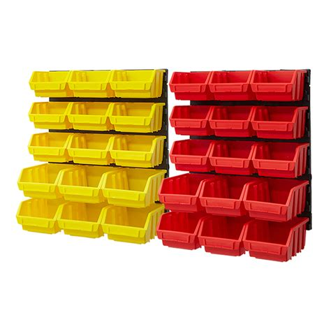 organizer bins plastic bin kit wall garage storage parts bins tool small
