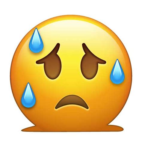 image gallery sweating emoji