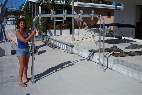 boat arch with bimini top bimini top isinglass radar arch the hull truth