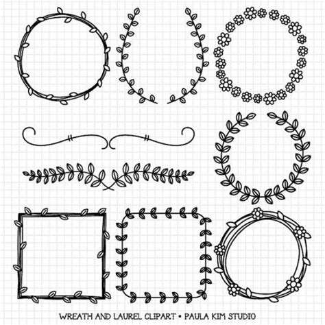 wreaths and laurel clipart graphics borders and frames for wedding invitations digital