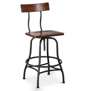 industrial adjustable barstool metal bronze th target