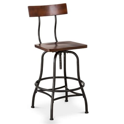 Target Kitchen Bar Stools by Industrial Adjustable Barstool Metal Bronze Th Target
