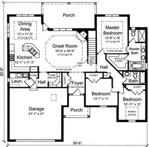 3 bedroom house plans with basement plan 39190st one level 3 bedroom home plan offices