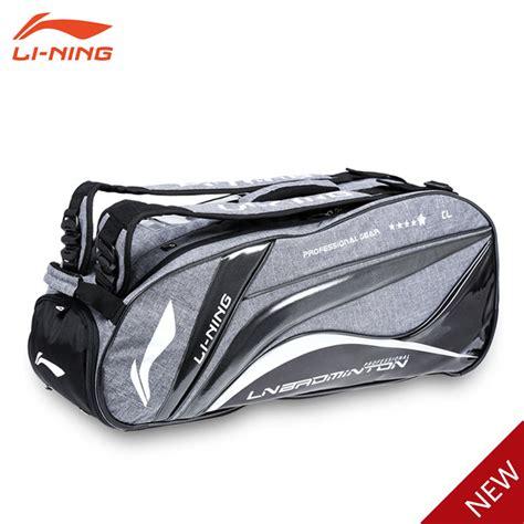 Li Ning Badminton Bag Absm294 li ning 2015 chen 6 badminton racket bag abjk038