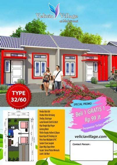 rumah dijual rumah kpr bersubsidi  cibitung velicia village