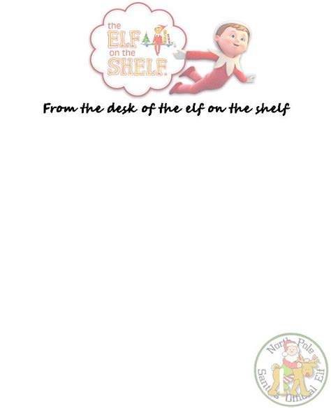 elf on the shelf blank printable letter best photos of elf head template printable christmas