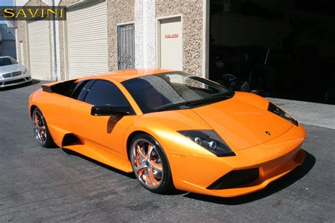 Orange Lamborghini Murcielago Murcielago Savini Wheels
