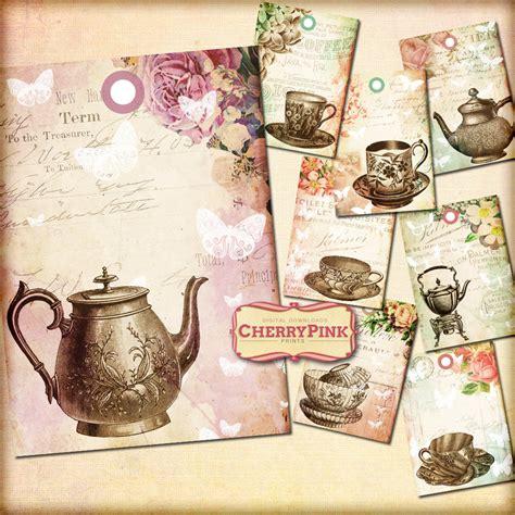 vintage tea tags printable tags by miabumbag on deviantart