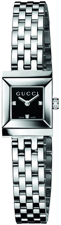 Gucci Ya129509 Black gucci s ya128507 g frame square steel bracelet black http watches