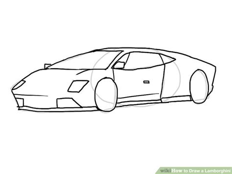 Lamborghini Drawing by 4 Ways To Draw A Lamborghini Wikihow