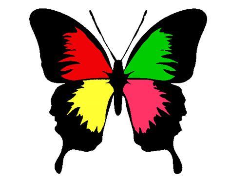 imagenes de mariposas sencillas dibujo de mariposa con alas negras pintado por franciscam