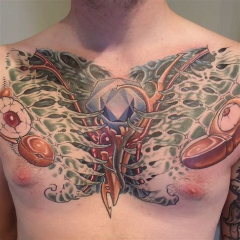 biomechanical chest tattoo designs biomechanical tattoos and designs page 289