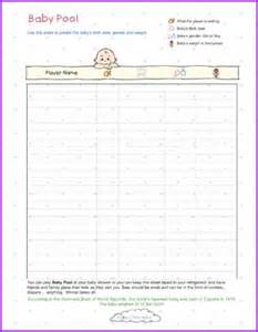 Baby Pool Template by 8 Best Images Of Baby Arrival Pool Printable Baby Shower
