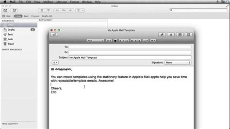 apple mail template how to create apple mail templates