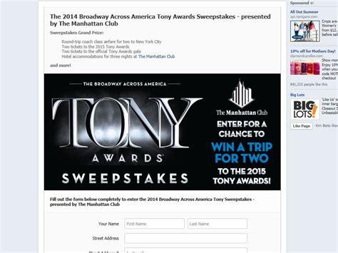 Broadway Sweepstakes - the 2014 broadway across america tony awards sweepstakes