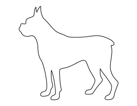 printable dog templates boxer dog pattern use the printable outline for crafts