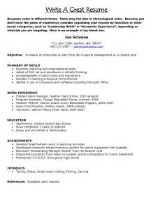 how to write a good marketing resume example good resume template