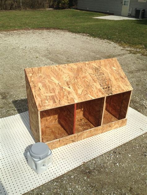build nesting boxes    piece  plywood