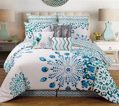 queen comforter on king bed cal king bedding ensembles with fantasy teal white 7 piece
