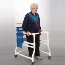 anthros 18 quot pvc ambulator walker with adjustable rails