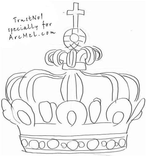 How To Draw A Crown Step By Step Arcmel Com How To Draw A Princess Crown