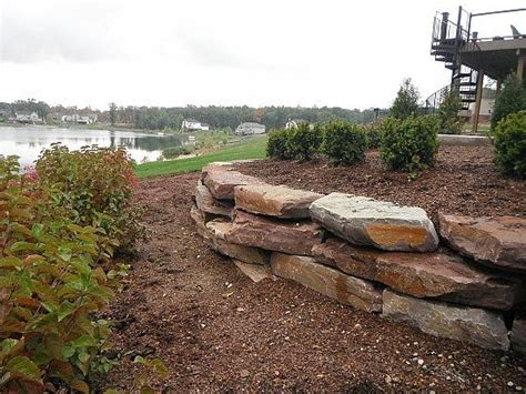 Landscape Timber Michigan Pictures Of Boulder Retaining Walls Limestone