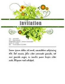 26 free printable invitation templates in word