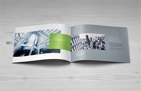 catalog design mockup landscape brochure mock up punedesign