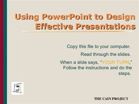 use layout and presentation of learning materials effectively presentation on how to use powerpoint