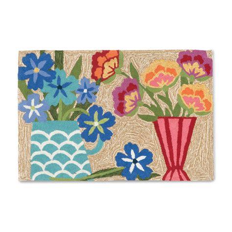 Balboa Indoor Outdoor Collection Multicolor Floral Rug Floral Outdoor Rugs