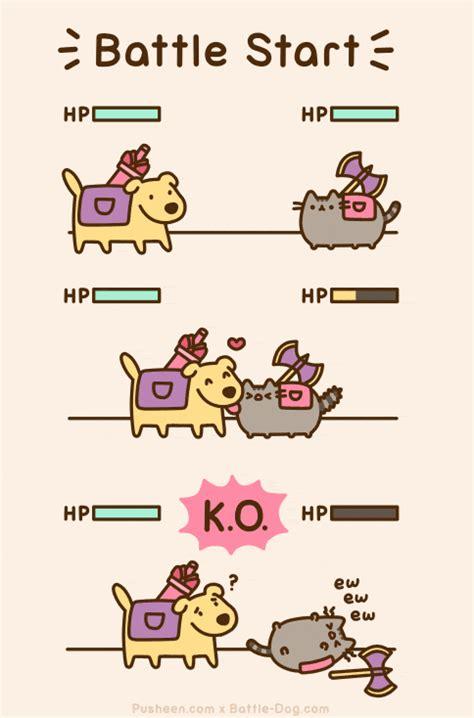 Pusheen The Cat Meme - dog vs cat