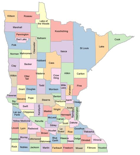 mn county map map of minnesota counties afputra