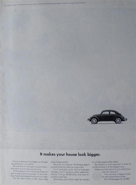 volkswagen vw beetle ad   house  bigger classic vintage volkswagen beetle