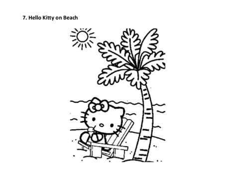 hello kitty beach coloring page free printable hello kitty coloring pages for kids