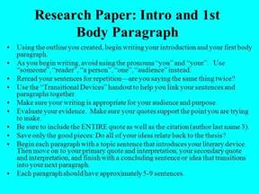 Research Paper 1st Paragraph learning how to write about literature using literary criticism ppt