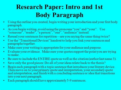 How To Make A Research Paper Introduction - 28 research paper intro paragraph writing a