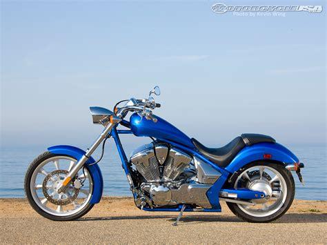 blue review 2010 honda fury ride motorcycle usa