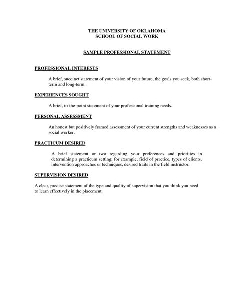 personal statement of goals and objectives best photos of goal statement exles professional goal