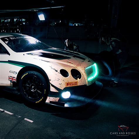 bentley night photo xxl bentley gt3 nuit cars and roses