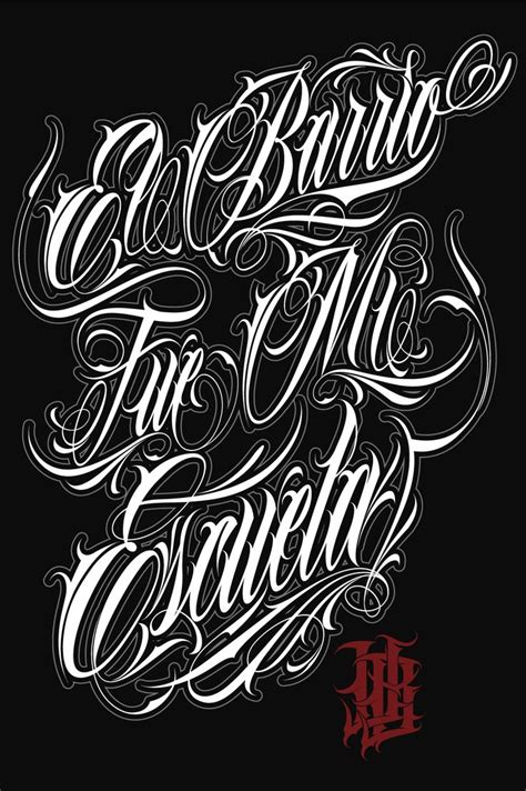 tattoo fonts y lettering ilustracion chicano and