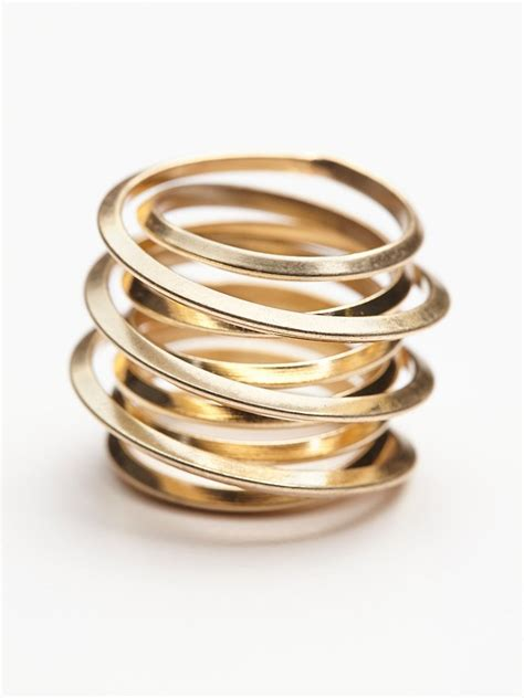 gold wire rings free womens wire wrapped ring in gold lyst
