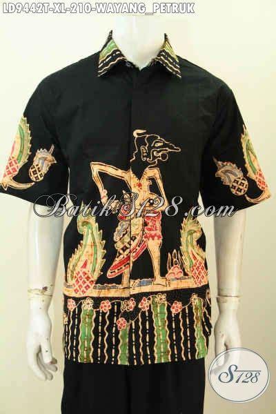 Hem Batik Jawa hem batik motif wayang petruk kemeja batik jawa