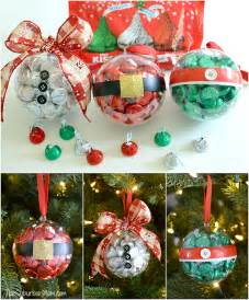 diy christmas ornaments with hershey s kisses