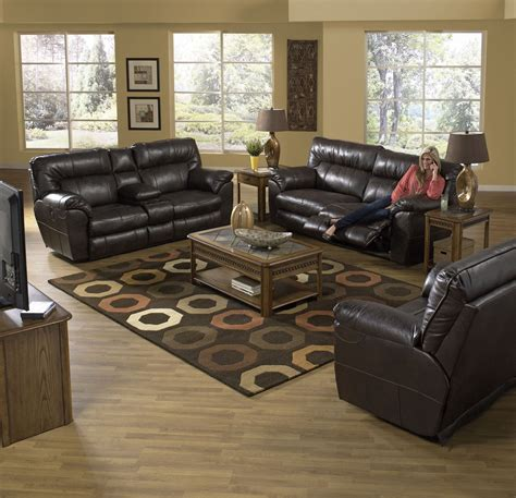 Power Reclining Living Room Set by Nolan Godiva Power Reclining Living Room Set