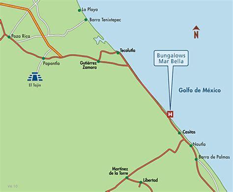 Casitas mapa de ubicacion hotel bungalows mar bella costa